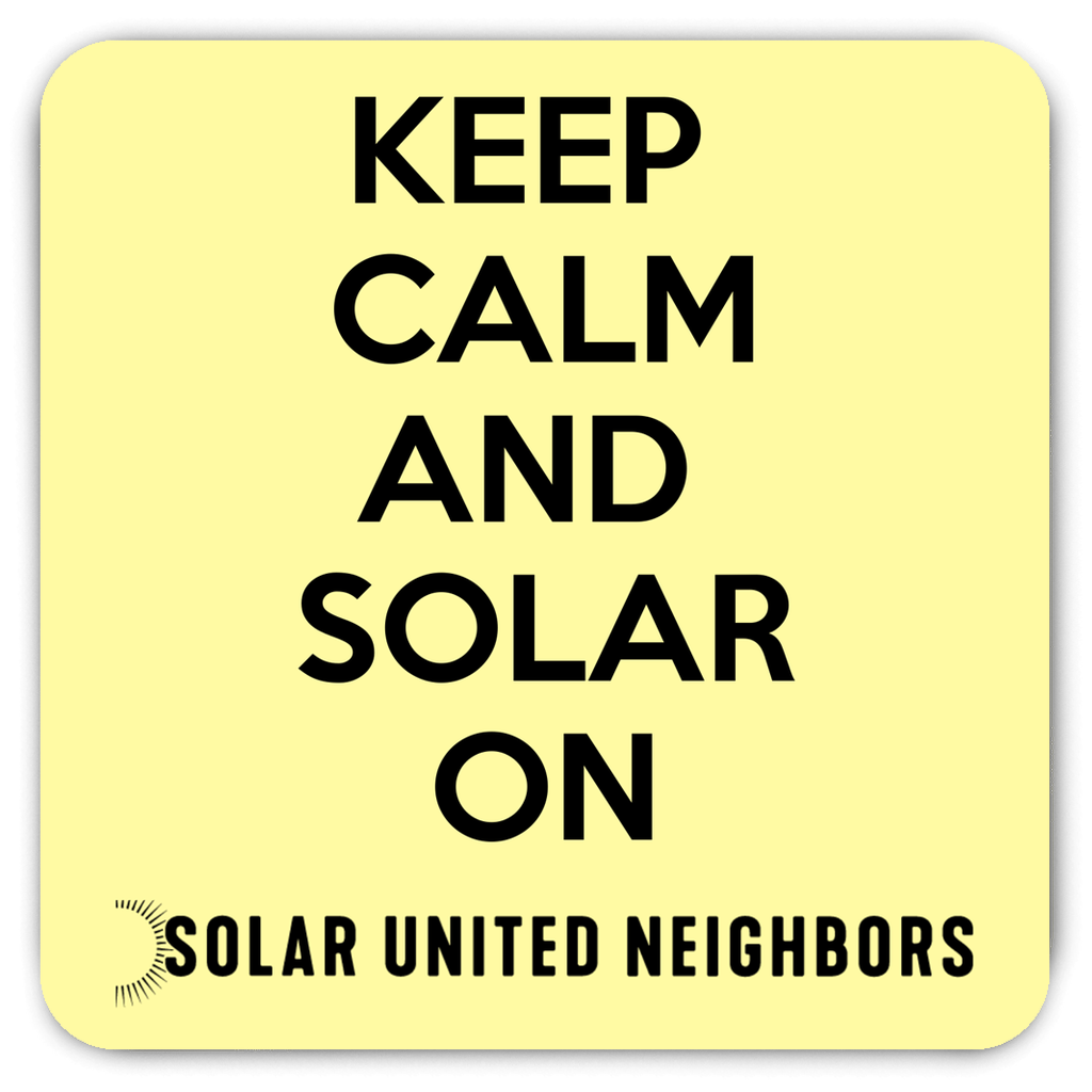Keep Calm Solar Magnet