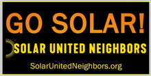 Load image into Gallery viewer, Go Solar Bumper Sticker