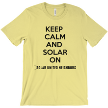 Load image into Gallery viewer, Keep Calm and Solar On T-Shirt