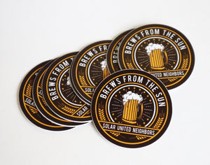 Brews from the Sun stickers (10)