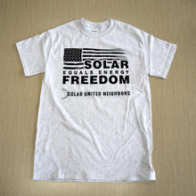 Load image into Gallery viewer, Solar = Energy Freedom t-shirt