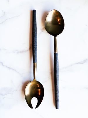 Antique Bronze Serving Set