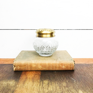 Brass and Glass Belly Jar