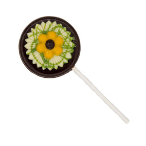 Dark Chocolate Flower Lolly