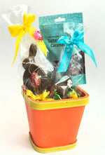 Dark Chocolate Easter Basket with Salted Caramels