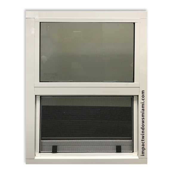 Single-hung impact windows