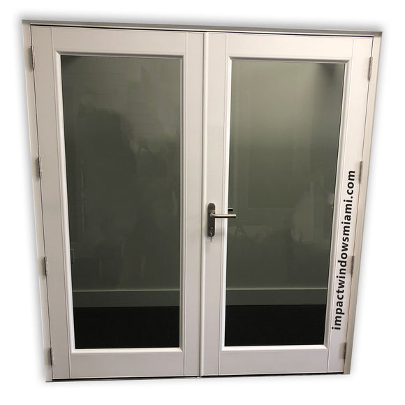 60 x 79 3/4 Hurricane Impact French Door