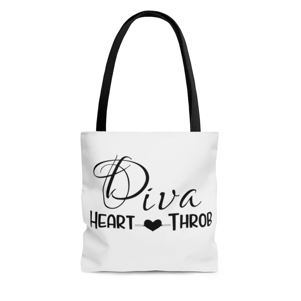 AOP Medium Diva Heart Throb Tote Bag