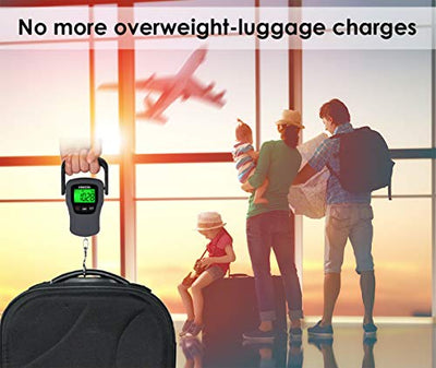 Digital Hanging Luggage Scale with Comfortable Handle Large Hook