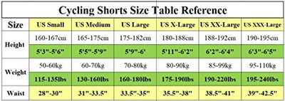 Sponeed Men's Padded Cycling Shorts Bicycle Bike Gear MTB Pants Cycle Wear Biking Tights Asian L US M White