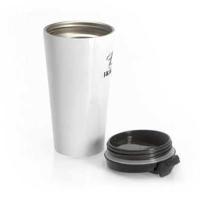 Heart Throb Stainless Steel Travel Mug (Also in pink design)