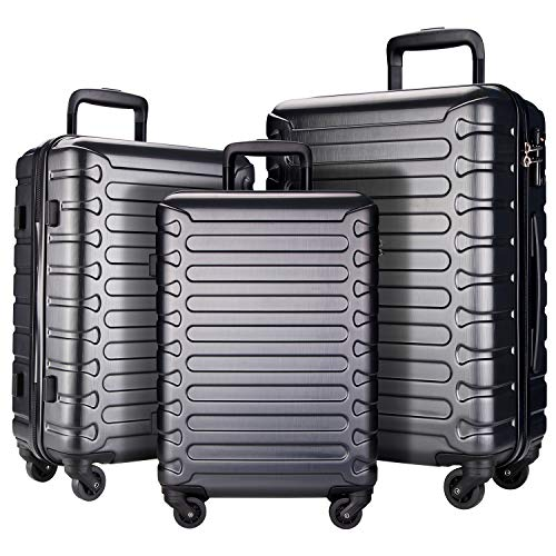 3 Piece Luggage Sets Expandable ABS Hardshell Lightweight
