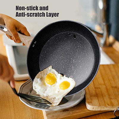 Homgeek Frying Pan, Nonstick Pans, Skillets