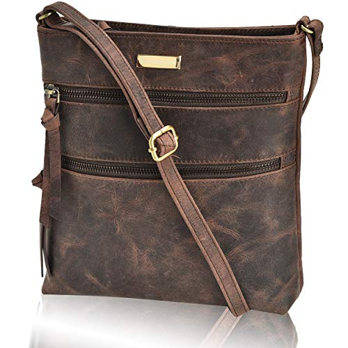 Crossbody Bags - Real Leather Adjustable Purse