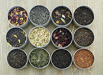 Solstice Loose Leaf Tea Ultimate Sampler 12 Teas - Approx 180+ Servings
