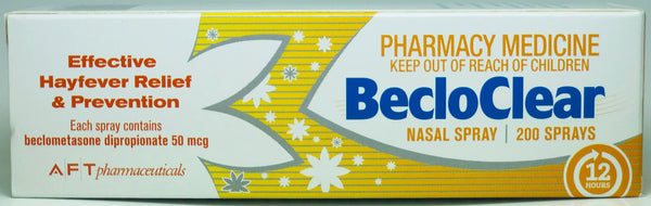 BecloClear Allergy & Hayfever Nasal Spray 200 doses