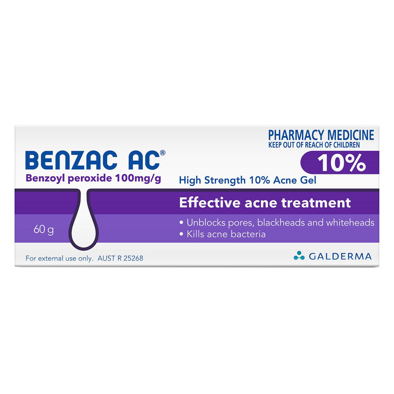 Benzac AC Mild Strength 10% Acne Gel 60g