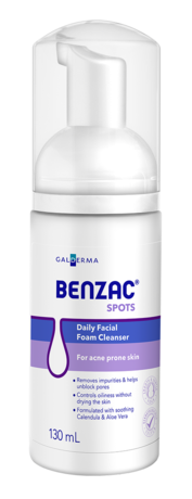 BENZAC Daily Foam Cleans. 130ml