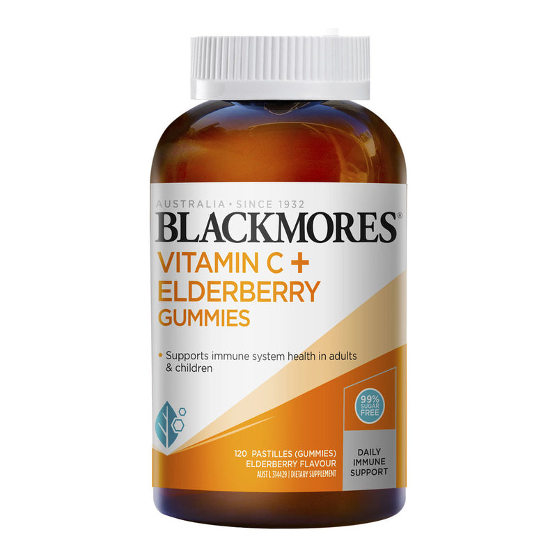 Blackmores Vitamin C + Elderberry gummies 90 mg 120