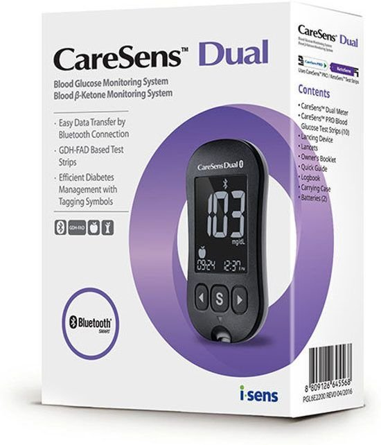 Blood Glucose and Ketone Meter - Caresens Dual