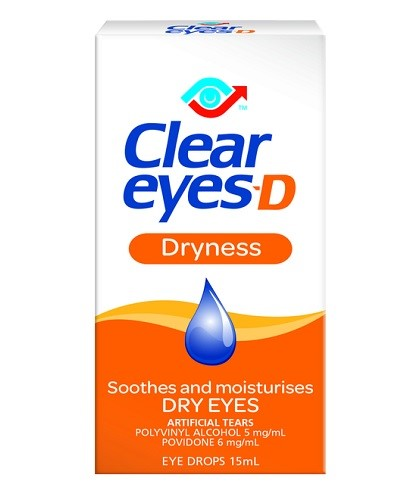 Clear Eyes-D Dryness Eye drops 15 mls