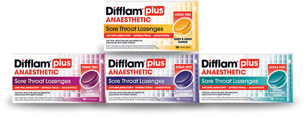 Difflam Plus Anaesthetic Lozenges Eucalyptus and Menthol