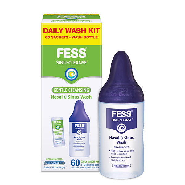 FESS Sinu-Cleanse Gentle Cleansing Daily Wash Kit