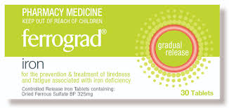 Ferrograd Iron Tablet 325mg 30s