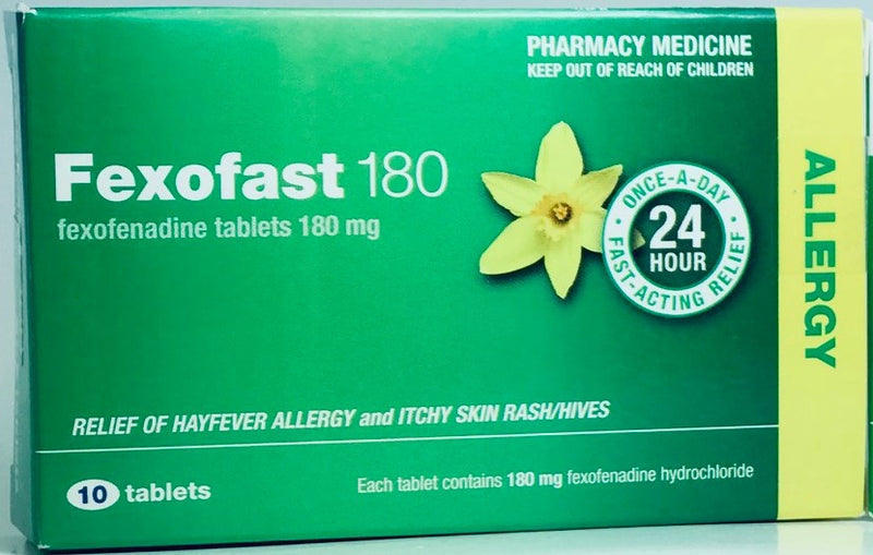 Fexofast 180mg Anti-Histamine Tablets 10s