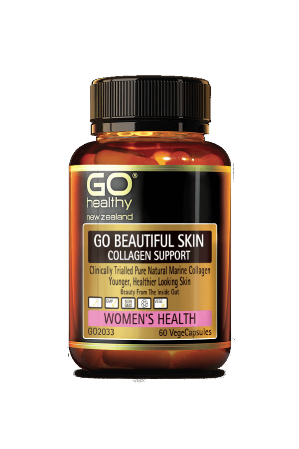 Go Beautiful Skin Collagen Support 60 VegeCapsules