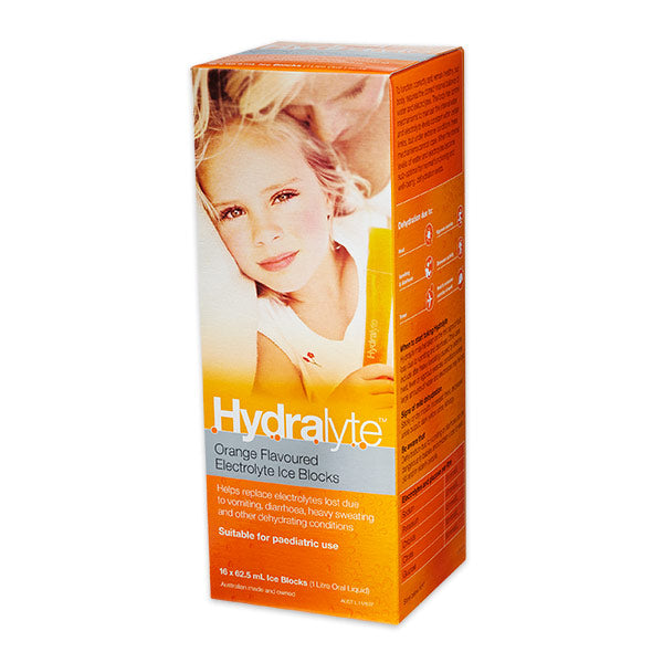 Hydralyte Rehydration Ice Blocks Orange