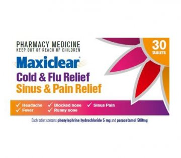 Maxiclear Cold & Flu reflief and Sinsus & Pain Relief