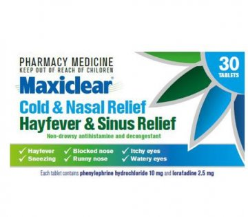 Maxiclear Cold & Nasal Relief and Hayfever & Sinus Relief