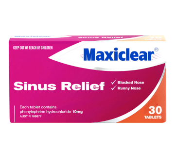 MAXICLEAR Sinus Relief Tabs 30s