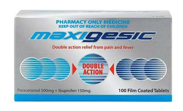 Maxigesic Pain, Fever & Inflammation Relief Tablets 100s