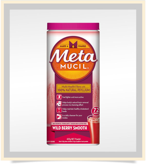 Metamucil Wild Berry Smooth Fibre Supplement 425g
