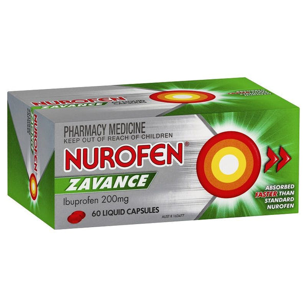 Nurofen Zavance Pain, Fever & Inflammation Relief Liquid Capsules
