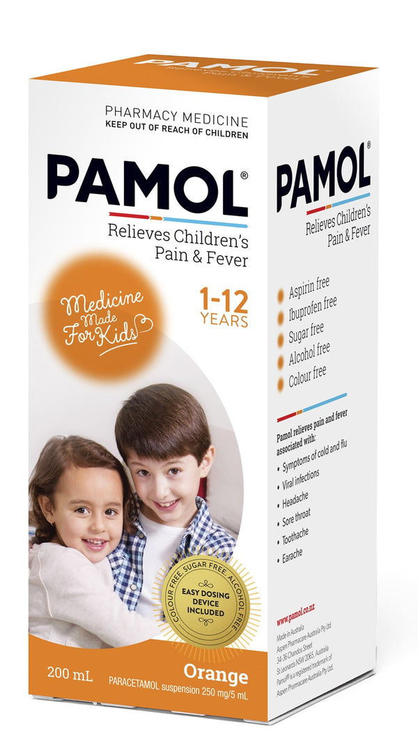 Pamol All Ages Orange Pain & Fever Relief Liquid
