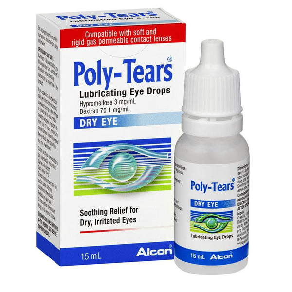 Poly Tears Lubricating Eye Drops 15 mls