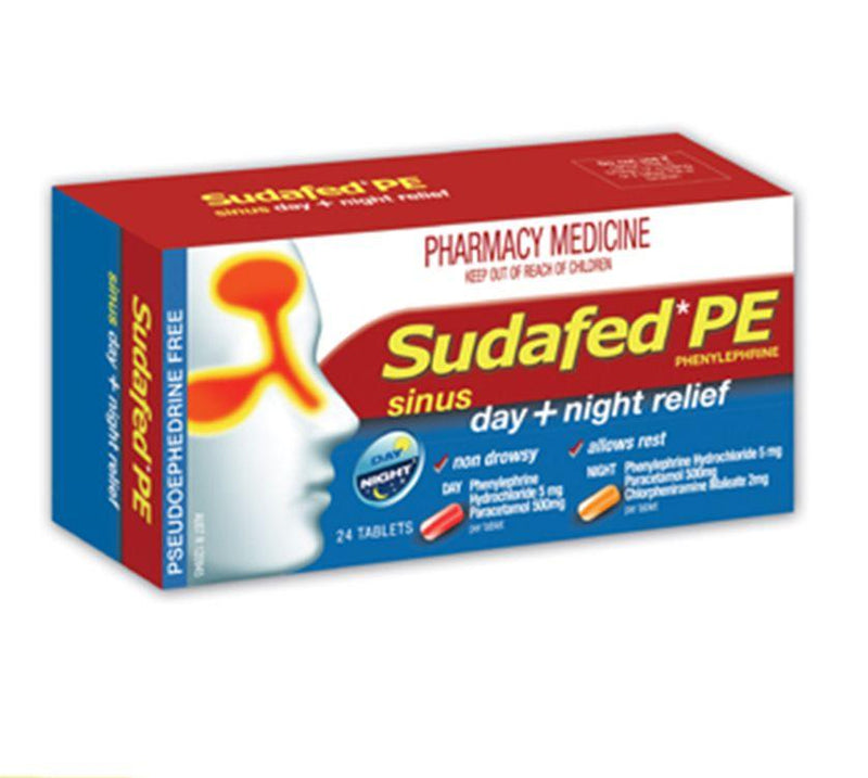 Sudafed PE Sinus Day and Night Relief Tablets