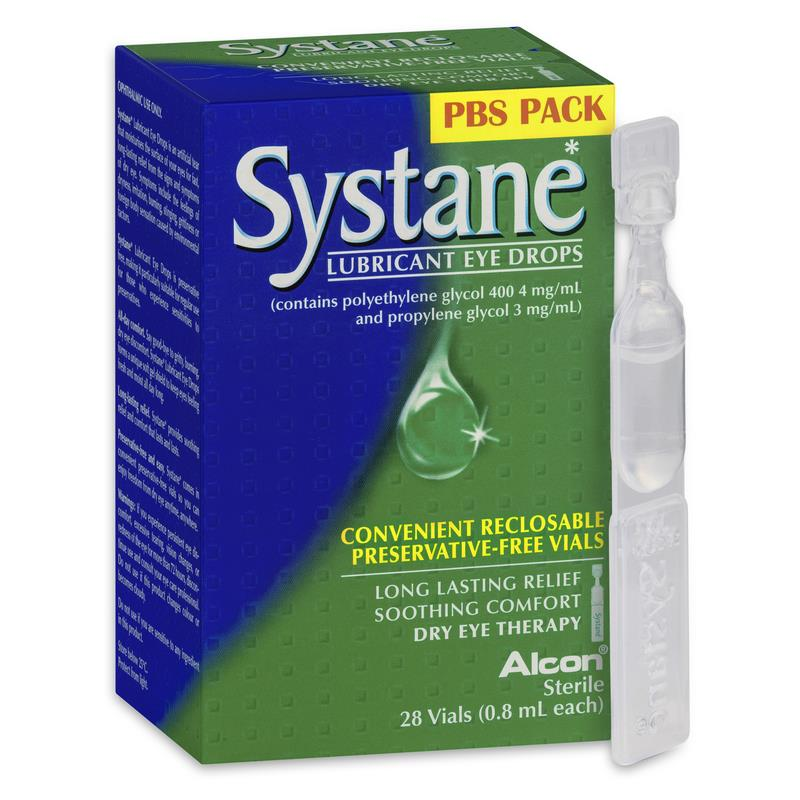 Systane Preservative Free Lubricant Eye Drops 28 Vials