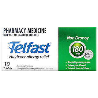 Telfast 180mg Anti-Histamine Tablets 10s