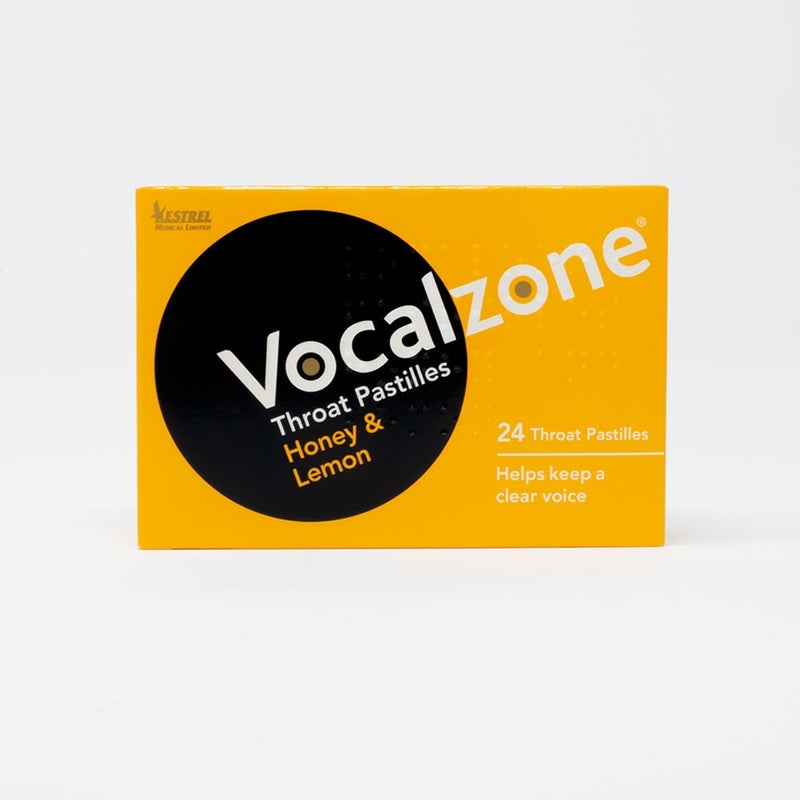 Vocalzone Throat Pastilles Honey & Lemon