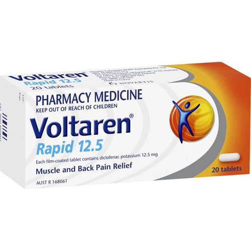 Voltaren Rapid 12.5mg Pain & Inflammation Relief Tablets