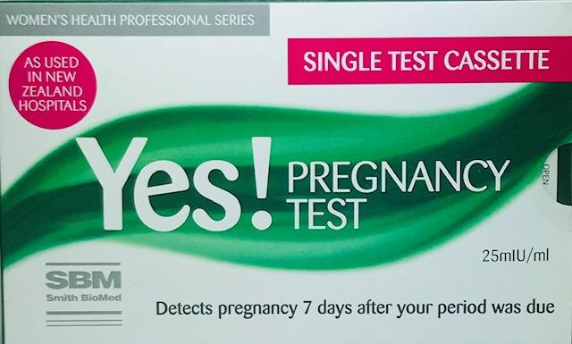 Yes! Rapid Result Pregnancy Single Test Cassette