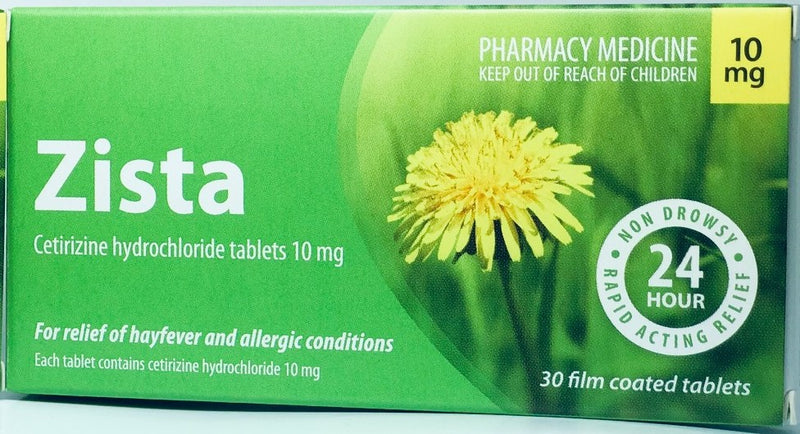 Zista 10mg Anti-Histamine Tablets 30s
