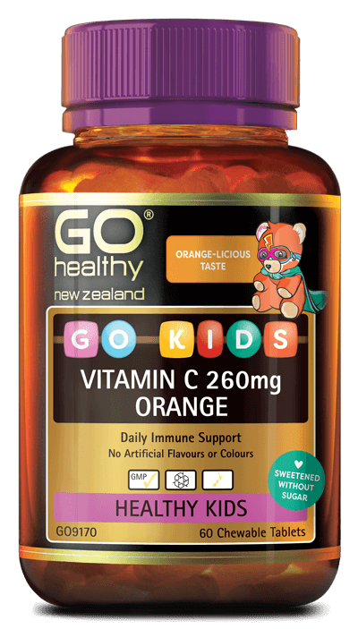 Go Kids Vitamin C 260mg Orange Chewable