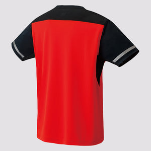 2019 YONEX MEN'S CREW NECK SHIRT - 10284 FIRE RED