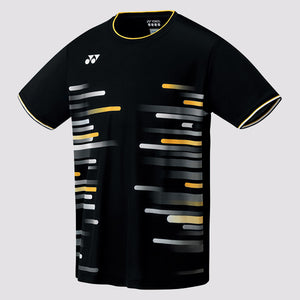2019 YONEX MEN'S CREW NECK SHIRT - 10286 BLACK