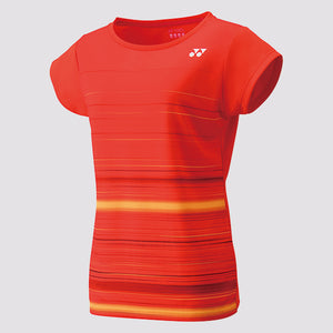 2019 YONEX WOMEN'S T-SHIRT - 16374 FIRE RED